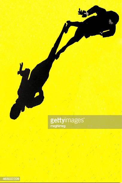 Woman on yellow