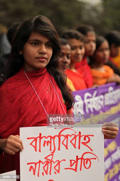 Woman organizations protest against child marriage in front of Press Club in Dhaka Child marriage is a big problem in Bangladesh it now reaches to...