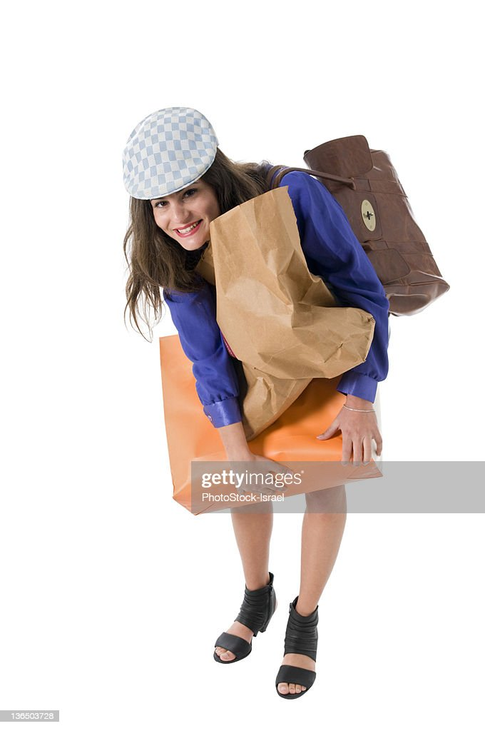 Woman out shopping : Foto stock