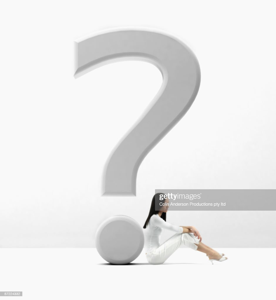 Woman overcoming and solving a problem : Stock Photo