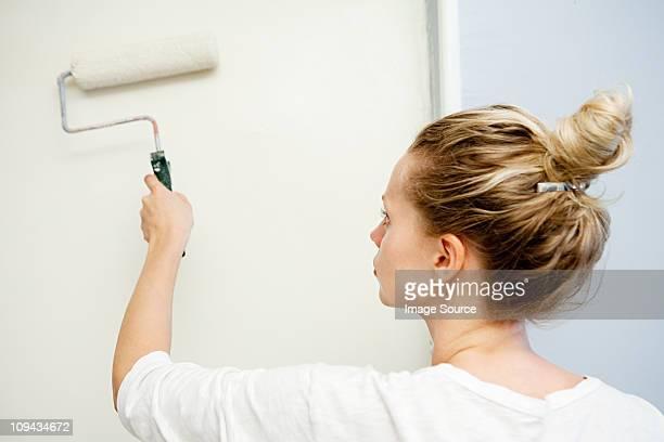 Frau Malerei Mauer