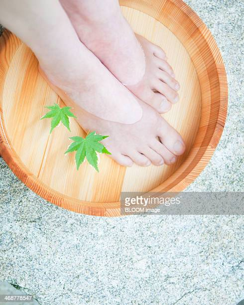 Woman Pampering Her Foot