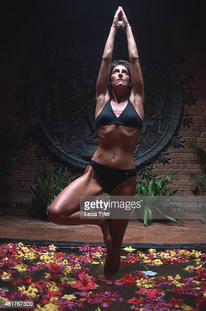 A woman performing a yoga assana move at Somatheeram Ayurvedic Resort in Kerala A derivative of ayurveda yoga is now a popular form of exercise for...