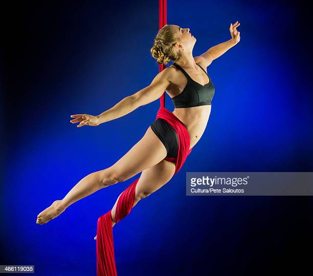 Woman performing acrobatics