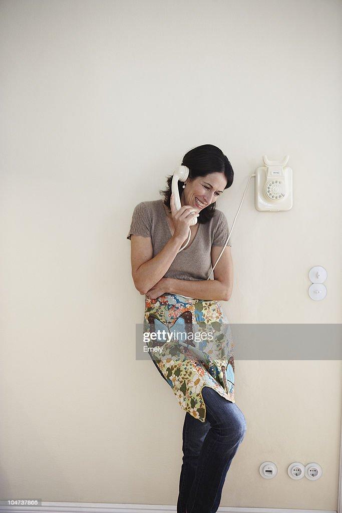 Woman phoning