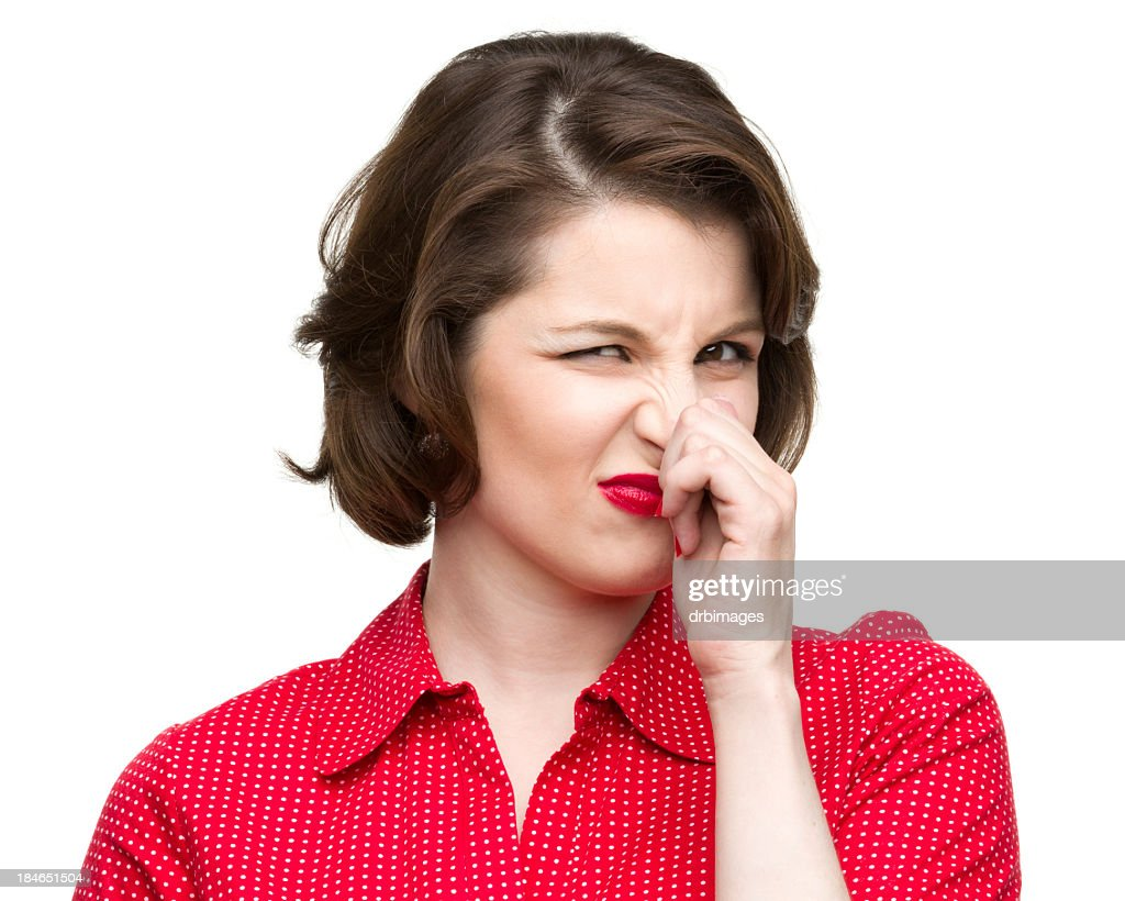 Woman Pinches Nose