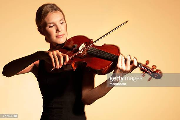 Woman Playing Viola