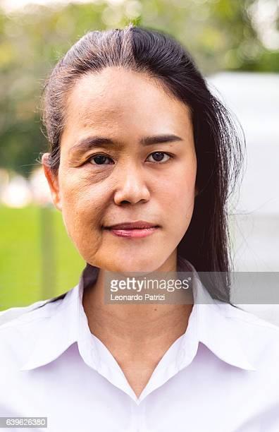 Woman portrait aging process
