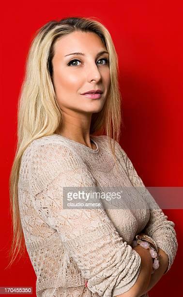 Portrait de femme.  Image en couleur