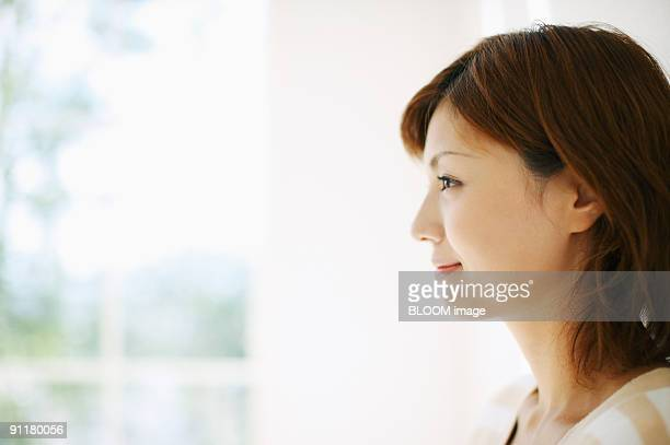 Woman, portrait, side view