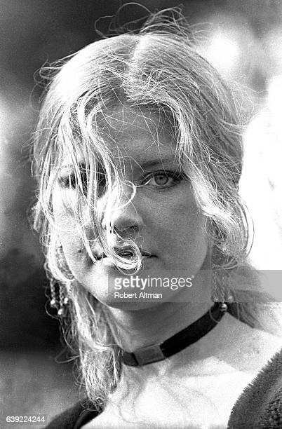 A woman poses for a portrait as Anastasie in The Living Theatre circa March 1969 in San Francisco California