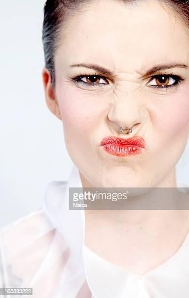 Femme pouting