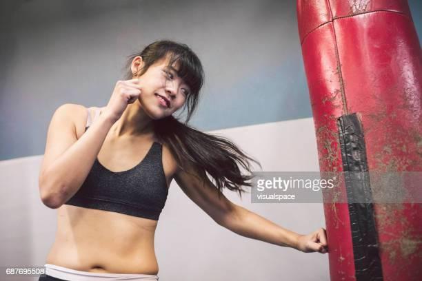 Woman Practicing Martial Arts