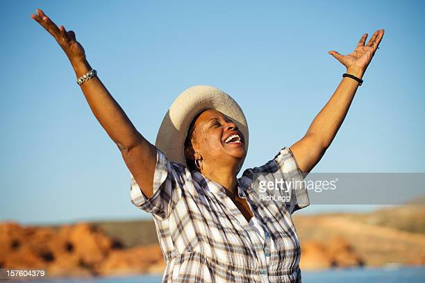 Woman Praising