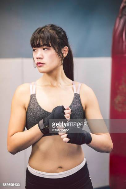 Woman Preparing for a Fight
