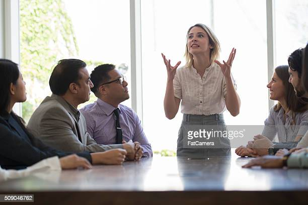 Woman Presenting in the Boardroom