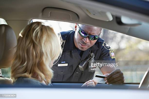 Traffic Cop Pull Over : Traffic cop stock photos and pictures getty images