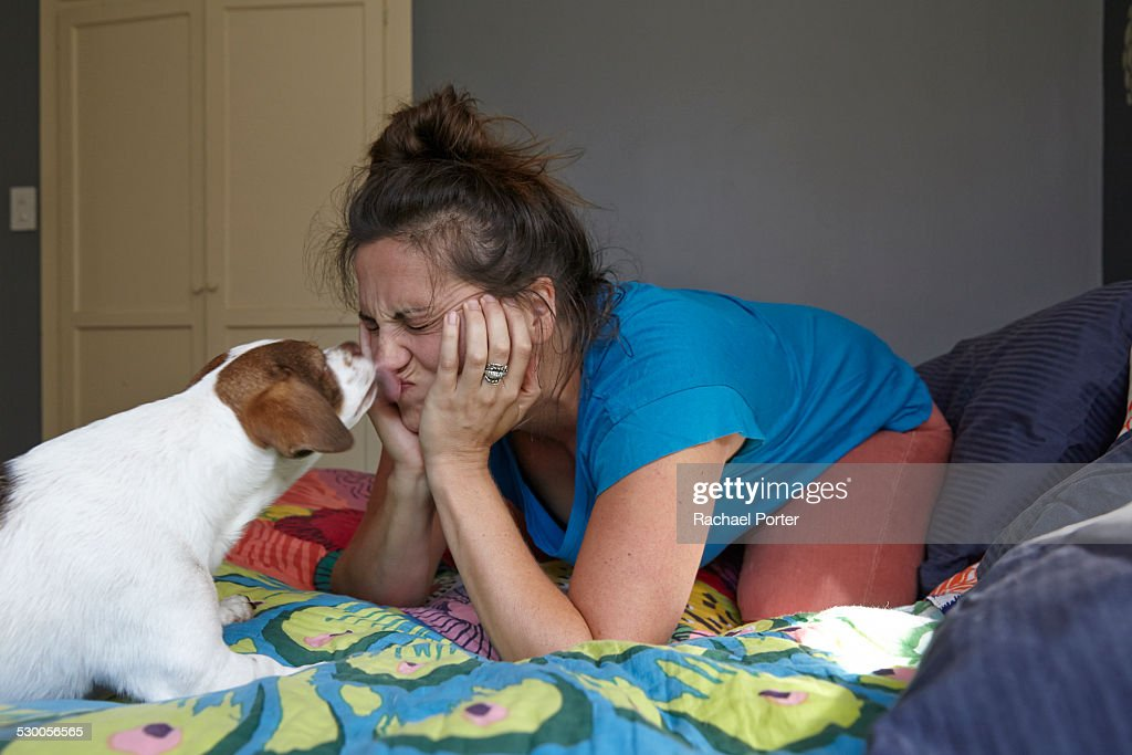 Ladies licked by dog