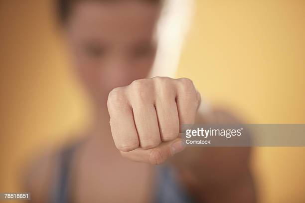 Woman punching