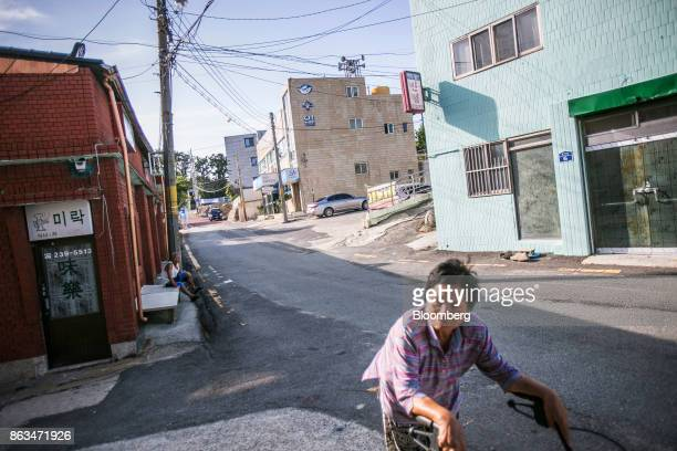 A woman pushes a cart along a street in Ulju Ulsan province South Korea on Thursday Aug 31 2017 South Korea has the worlds sixthlargest nuclear...