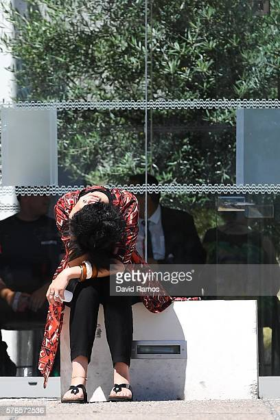 A woman reacts outside the Pasteur hospital on July 16 2016 in Nice France Five people believed to be linked to the man who killed 84 people in Nice...