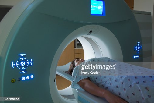 Woman Receiving a medical Scan for Breast Cancer Diagnosis : Stock Photo
