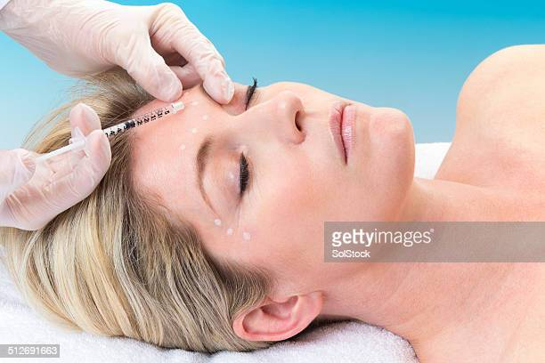Woman Receiving Botox Injection