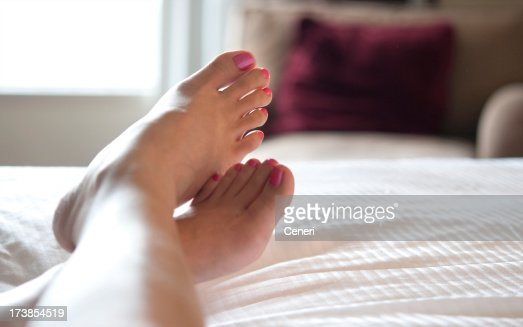 Woman relaxed in a hotel room