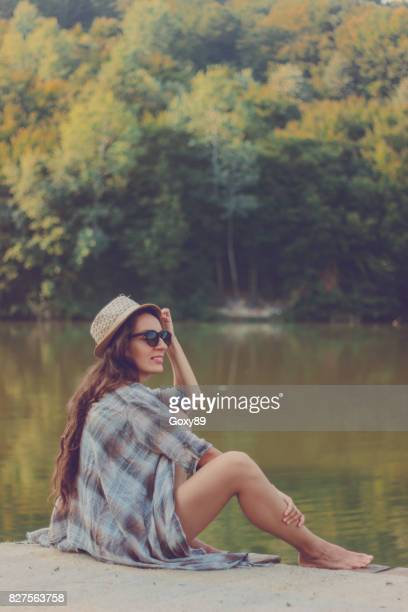 Woman relaxes