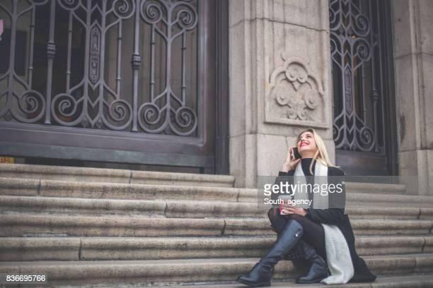 Frau alleine entspannen