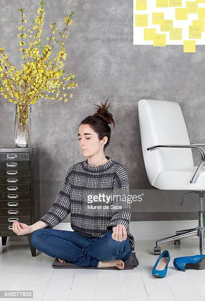 Woman relaxing at office
