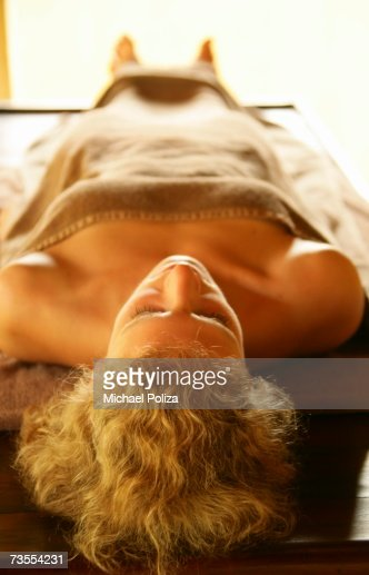 Woman Relaxing in a Day Spa : Stock Photo