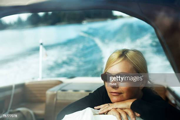 Woman Relaxing in Boat