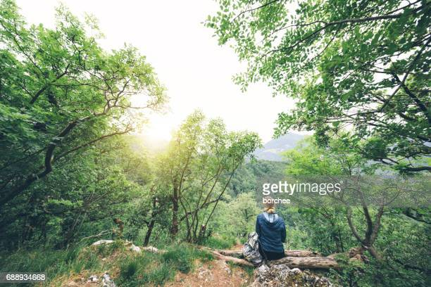 Woman Relaxing In Nature