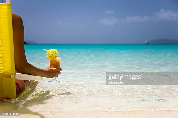 woman relaxing on a perfect beach