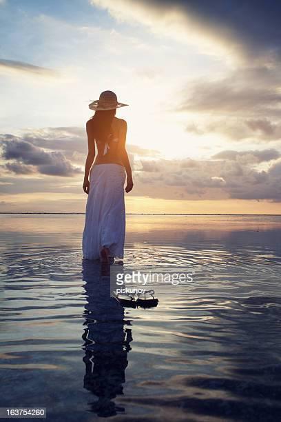 Frau Entspannung am Strand