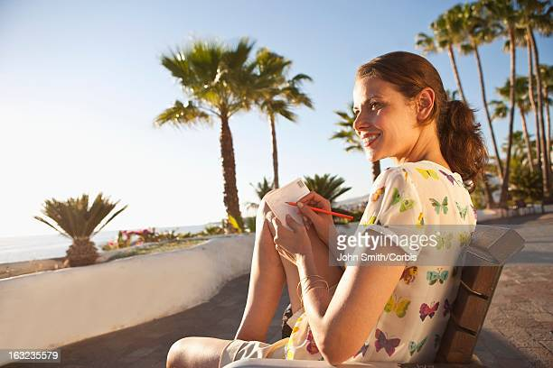 Woman relaxing on sunny day