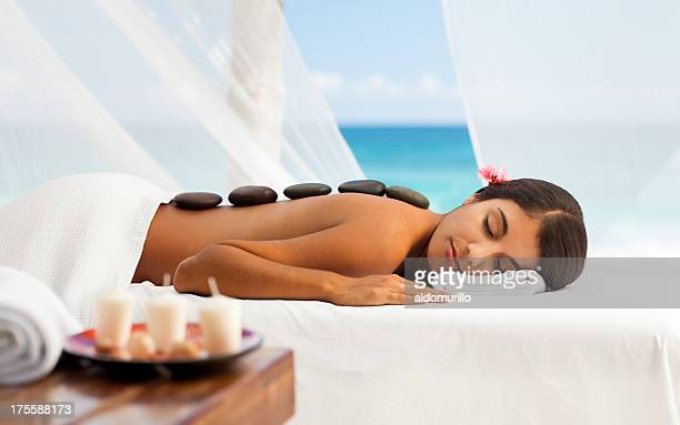 Woman relaxing on the spa