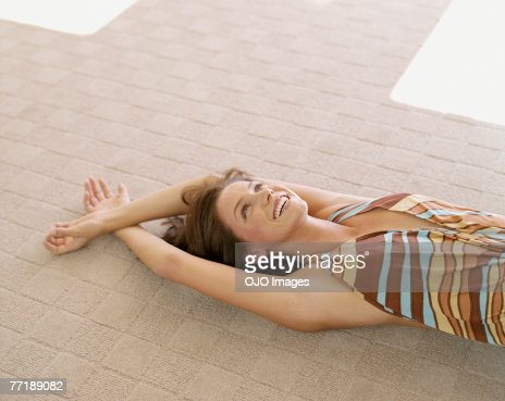 A woman relaxing : Stock Photo