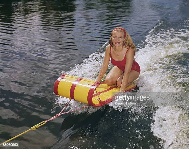 Woman Riding Water Sled