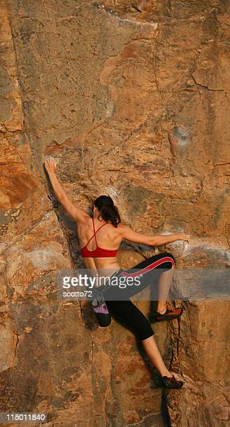 Woman Rockclimber