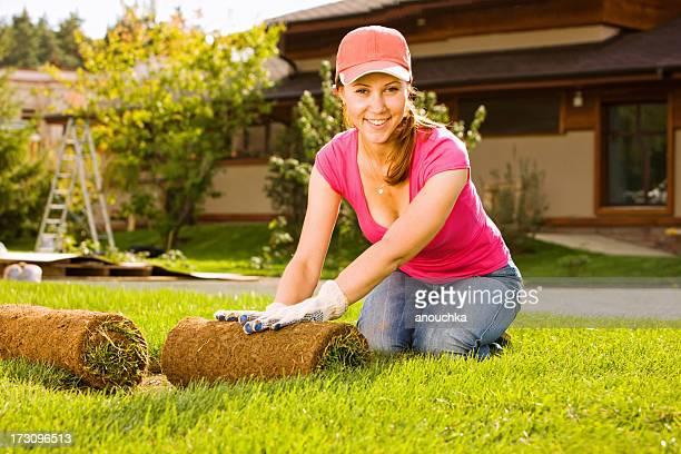 Frau Einführung Lawn Turf