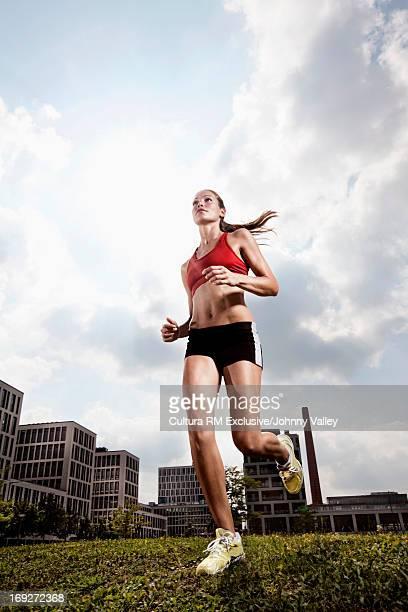 Woman runner in park