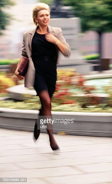 Woman running (blurred motion)