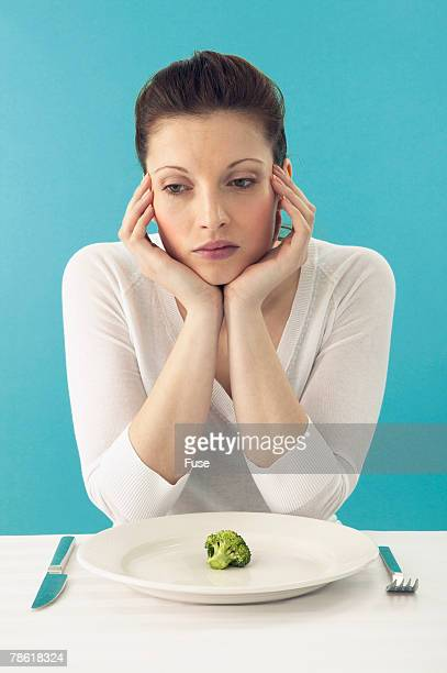 Woman Sad about Dieting