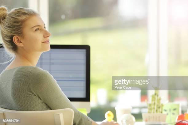 Woman sat in modern office
