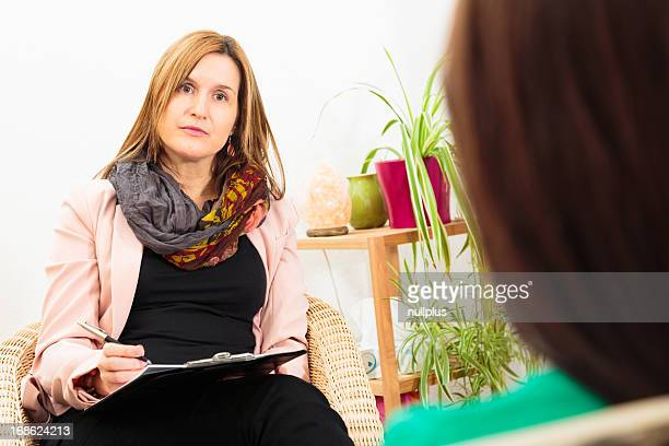 woman seeing a psychotherapist