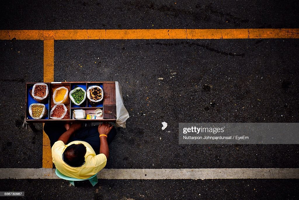Woman Selling Food On Street