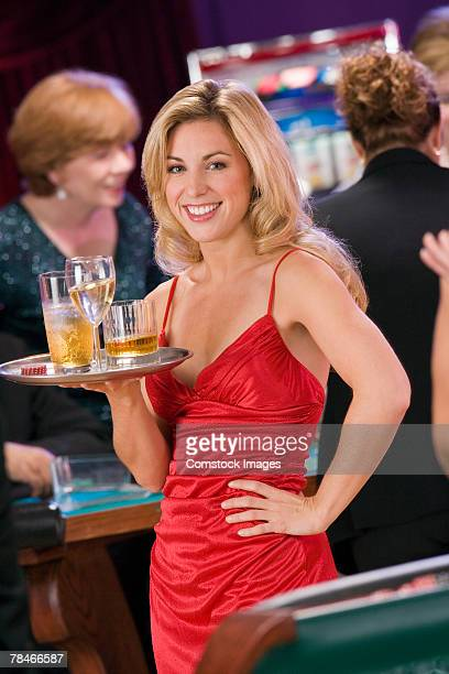 Cocktail Waitress Stock Photos And Pictures