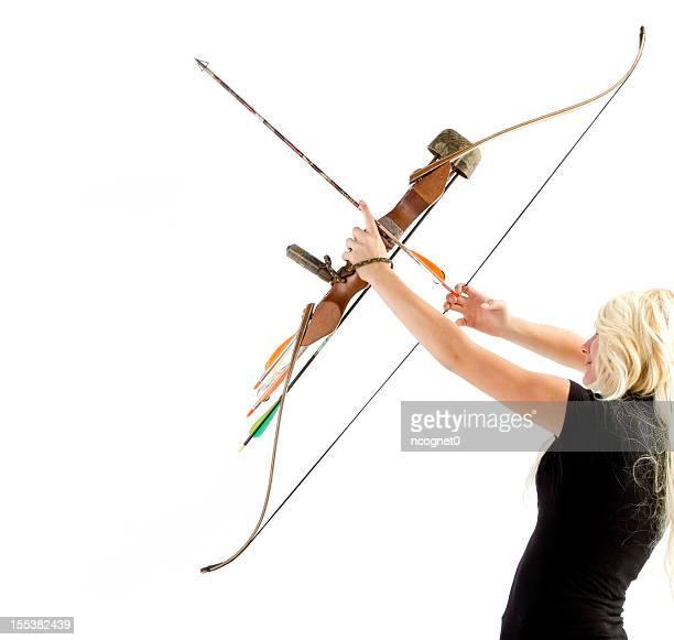 Woman shooting Archery